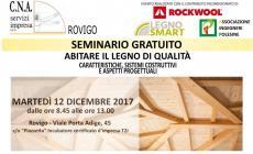 """SEMINARIO GRATUITO """"ABITARE IL LEGNO DI QUALITA'"""" - 12.12.2017 ROVIGO"""